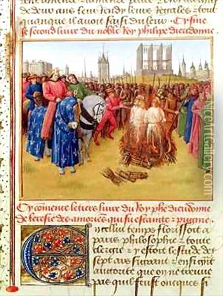 Supplication of the heretics Oil Painting - Jean Fouquet