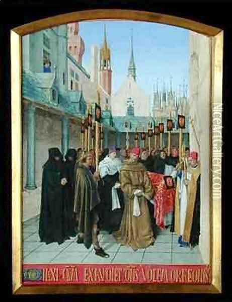 Service for the Dead Oil Painting - Jean Fouquet