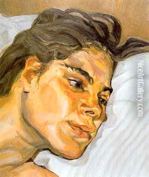 Esther Oil Painting - Lucian Freud
