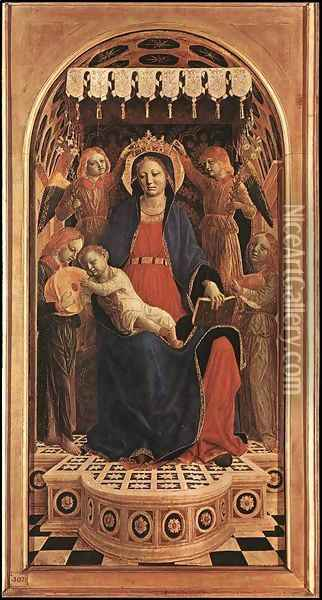 Madonna and Child 1476 Oil Painting - Vincenzo Foppa