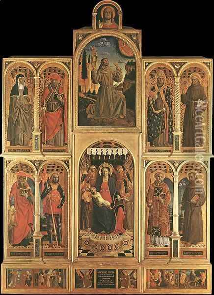 Altarpiece 1476 Oil Painting - Vincenzo Foppa