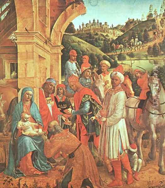 The Adoration of the Kings 1500-10 Oil Painting - Vincenzo Foppa