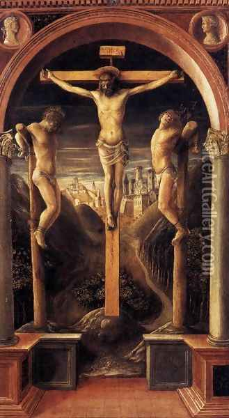 Crucifixion 1456 Oil Painting - Vincenzo Foppa