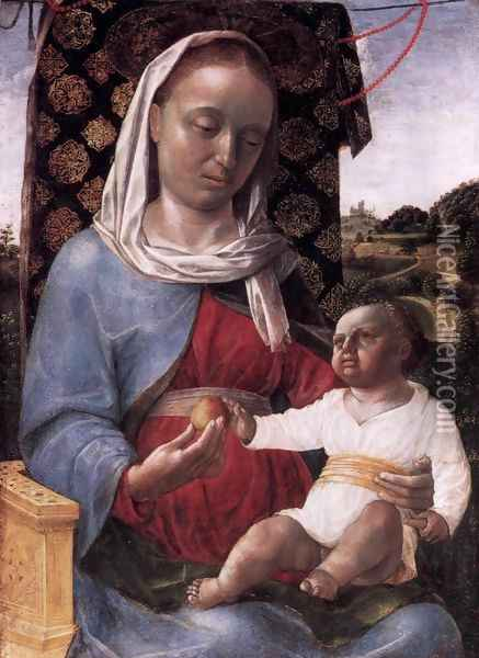 Virgin and Child Oil Painting - Vincenzo Foppa