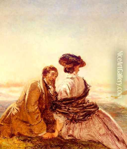 The Lovers Oil Painting - William Powell Frith