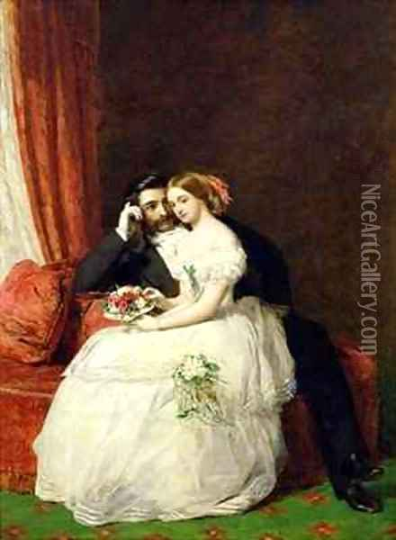The Proposal Oil Painting - William Powell Frith