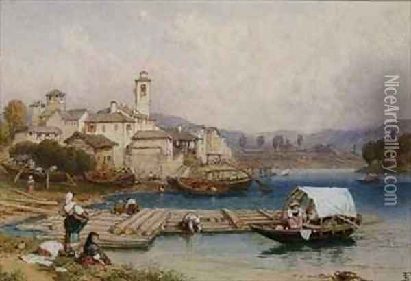 Lake Maggiore Oil Painting - Myles Birket Foster