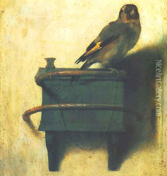 Goldfinch Oil Painting - Carel Fabritius