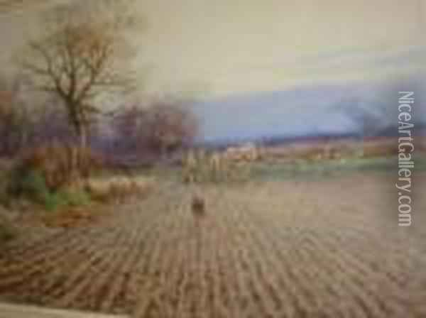 The Broken Fence Oil Painting - Henry Stannard