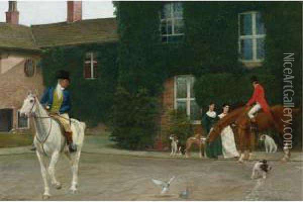 Ready For A Morning Ride Oil Painting - Marcus Stone