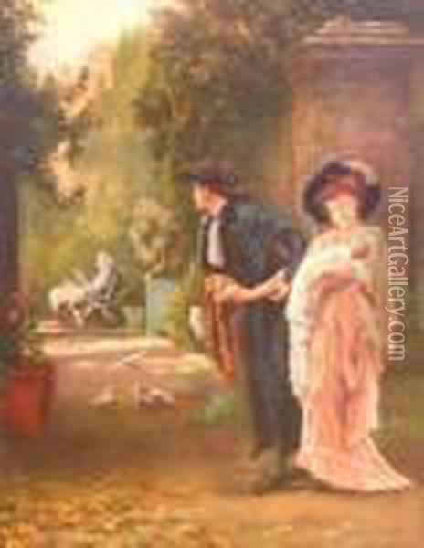 Married For Love Oil Painting - Marcus Stone