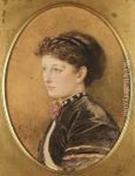 Portrait Of Kate Macready Dickens Oil Painting - Marcus Stone