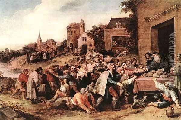 The Seven Acts of Mercy Oil Painting - Frans the younger Francken