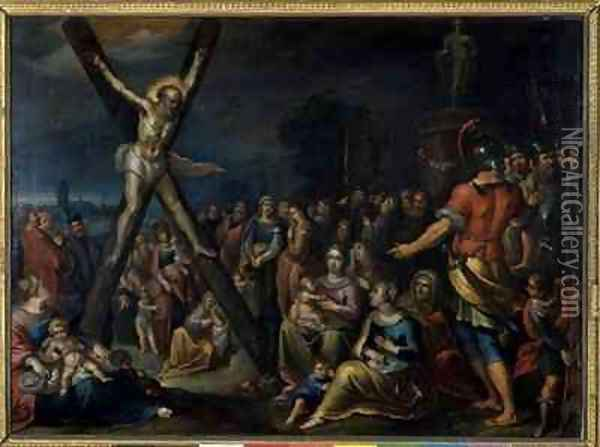 St Andrew on the Cross Oil Painting - Frans the younger Francken