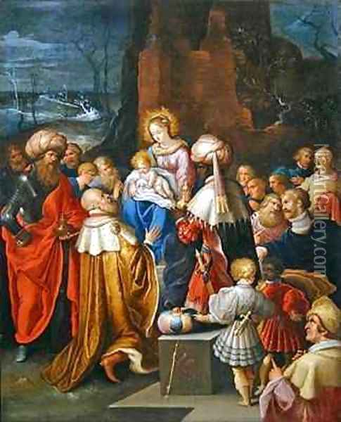 The Adoration of the Three Kings Oil Painting - Frans the younger Francken