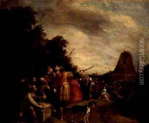 The Construction of the Tower of Babel Oil Painting - Frans the younger Francken
