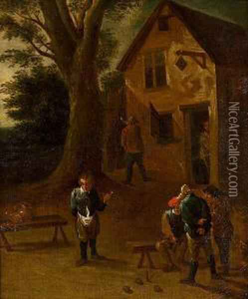 Posada Oil Painting - David The Younger Teniers