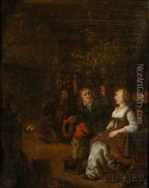 Interior Scene Oil Painting - David The Younger Teniers
