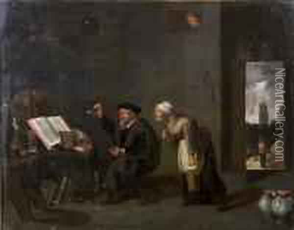 The Village Doctor Oil Painting - David The Younger Teniers