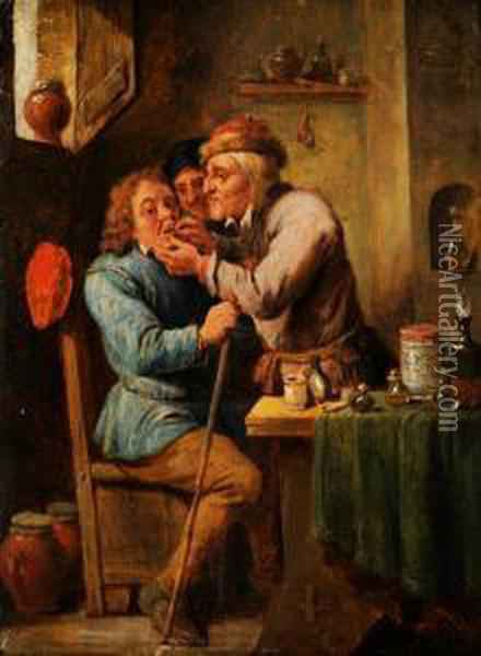 Beim Bader Oil Painting - David The Younger Teniers