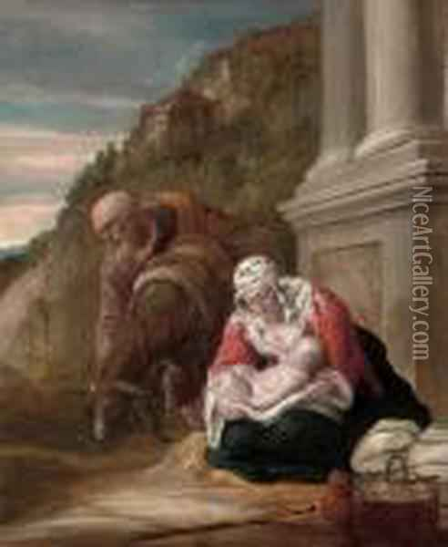 The Rest On The Flight Into Egypt Oil Painting - David The Younger Teniers