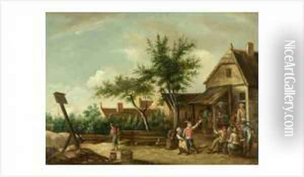 Untitled Oil Painting - David The Younger Teniers