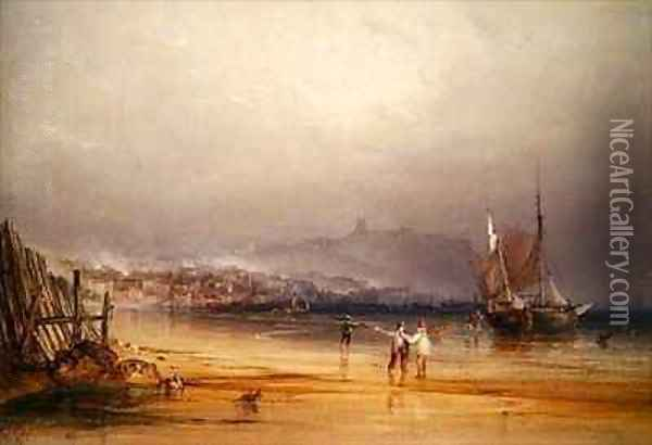 Scarborough Oil Painting - Anthony Vandyke Copley Fielding
