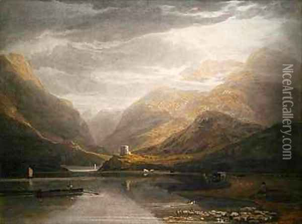 Dolbadern Castle Oil Painting - Anthony Vandyke Copley Fielding