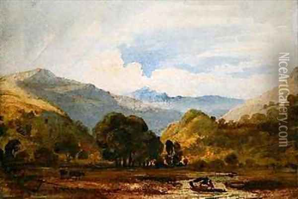 St Johns Vale Oil Painting - Anthony Vandyke Copley Fielding