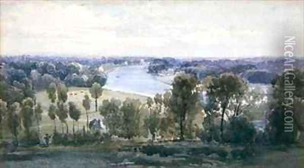 Richmond Hill Oil Painting - Anthony Vandyke Copley Fielding