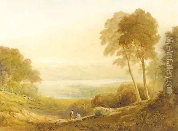 Ennerdale, from High Point Farm 2 Oil Painting - Anthony Vandyke Copley Fielding