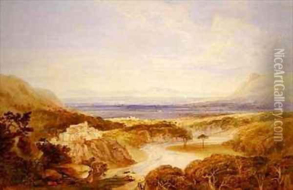 River View Oil Painting - Anthony Vandyke Copley Fielding
