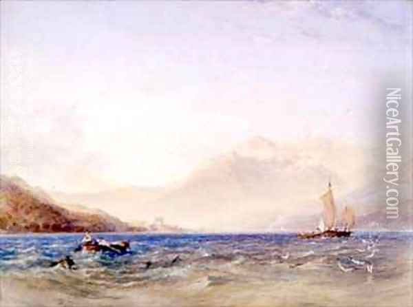The Head of Loch Fyne with Dindarra Castle Oil Painting - Anthony Vandyke Copley Fielding