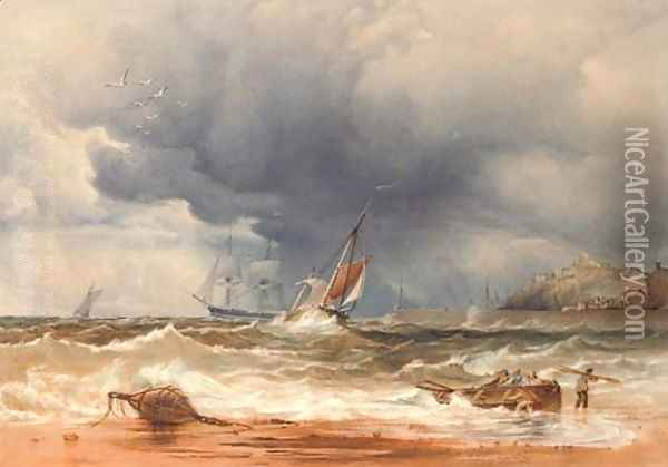 A sea piece Oil Painting - Anthony Vandyke Copley Fielding