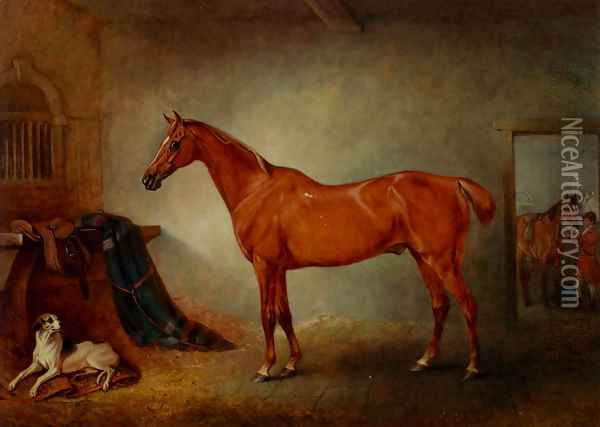 Firebird And Policy Oil Painting - John Snr Ferneley