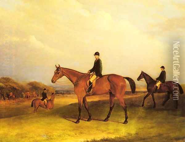 A Jockey On A Chestnut Hunter Oil Painting - John Snr Ferneley