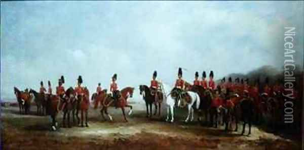 Review of the 16th Lancers Oil Painting - John Snr Ferneley