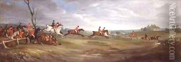 A Hunt Scurry with The Quorn Oil Painting - John Snr Ferneley