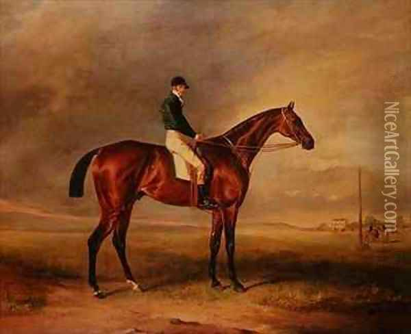 Priam, a bay racehorse ridden by Sam Day Oil Painting - John Snr Ferneley