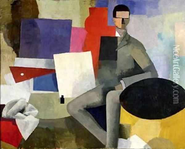 The Seated Man or The Architect Oil Painting - Roger de La Fresnaye