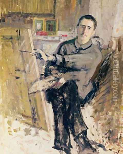 Self Portrait Oil Painting - Roger de La Fresnaye