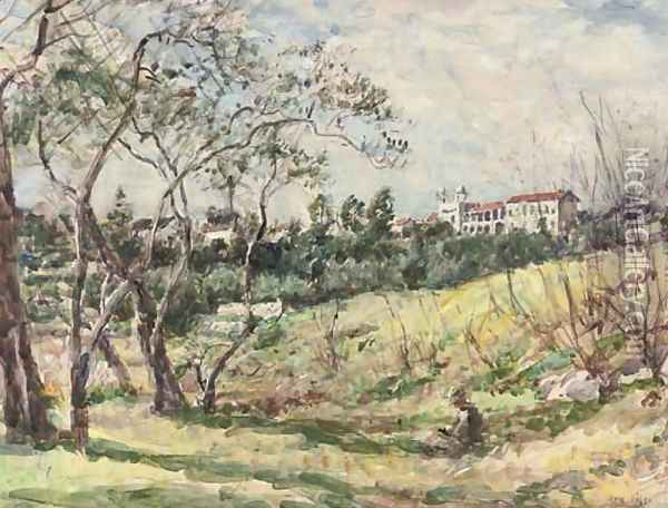 Sketching in the South of France Oil Painting - Mark Fisher