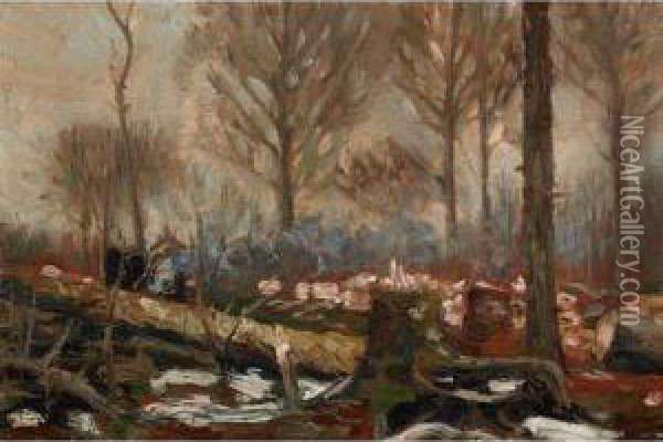 Fallen Timber Oil Painting - Tom Thomson