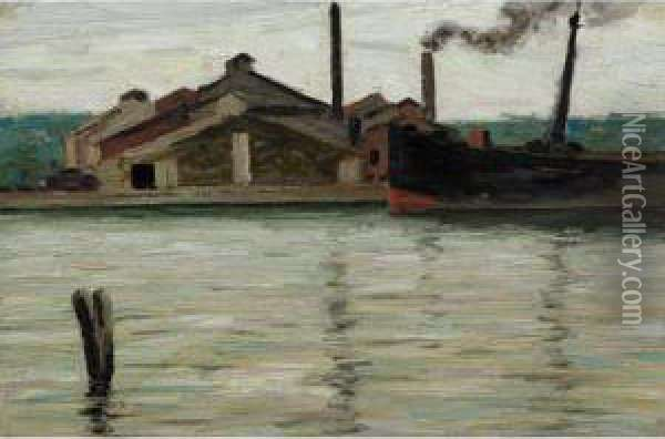 Sawmill, Algonquin Park Oil Painting - Tom Thomson