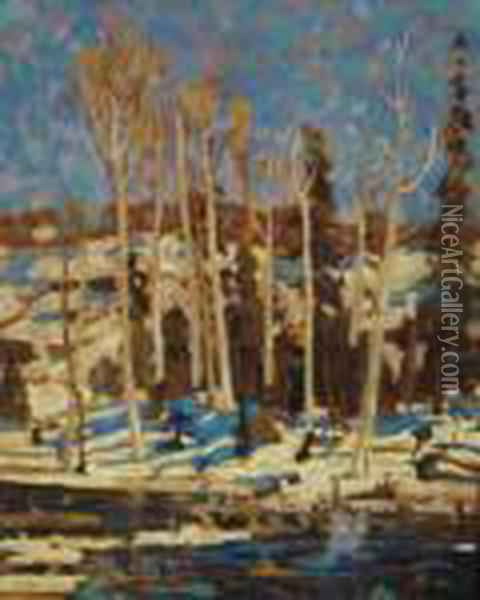March Oil Painting - Tom Thomson