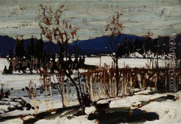 Winter Thaw Oil Painting - Tom Thomson