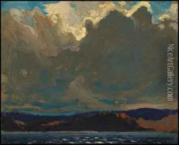 Approaching Storm, Dog Point Oil Painting - Tom Thomson