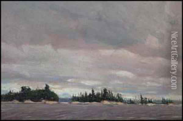 Sketch For Grey Day In The North Oil Painting - Tom Thomson