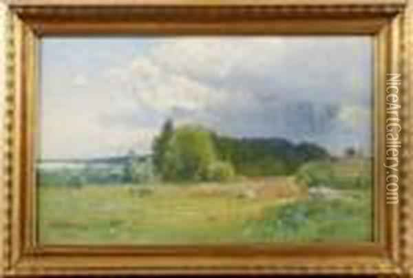 Askmoln Oil Painting - Alfred Thorne
