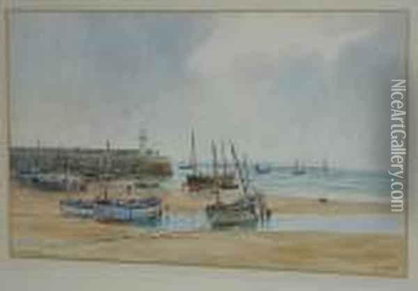 St. Ives Oil Painting - William Stephen Tomkin